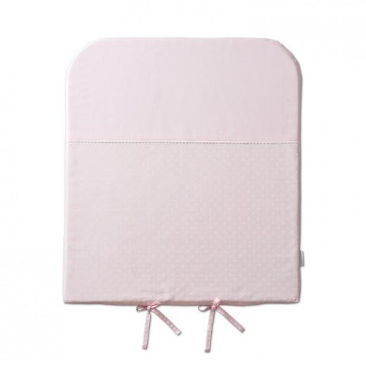 pelenkázó matrac rózsaszín borsó pettyes