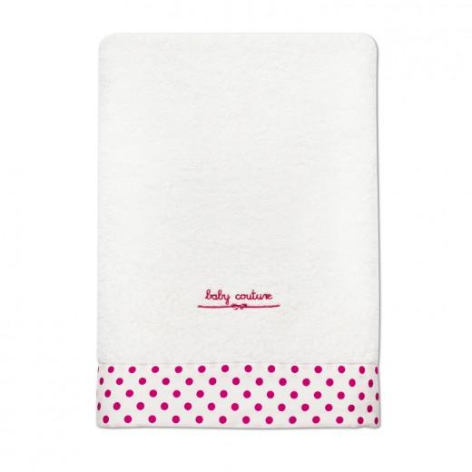 pink pettyes fürdőlepedő