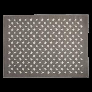Szürke acryl szőnyeg fehér csillagokkal