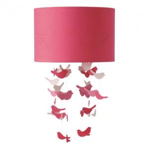 Birds mennyezeti lampa pink