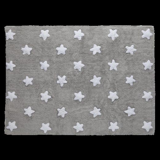 Szürke szőnyeg fehér csillag mintával
