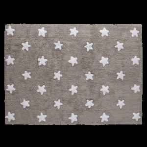 Taupe szőnyeg fehér csillagokkal