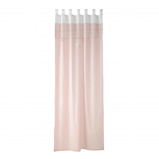 Pastel rózsaszín függöny